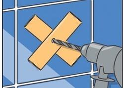Tegels op de juiste manier boren